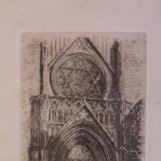 Arte: GRABADO DE V. BLANCO. CATEDRAL DE VALENCIA. FIRMADO Y NUMERADO. 4/100. ENMARCADO. 60X46CM. Lote 218790660