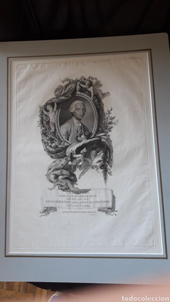 ANTIGUO GRABADO, CARLOS III, POR F. SELMA (Arte - Grabados - Antiguos hasta el siglo XVIII)