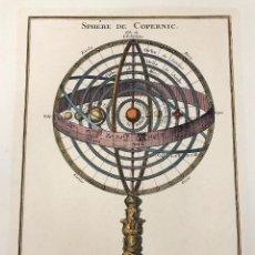 Arte: GRABADO SPHERE DE COPERNIC. ESFERA DE COPERNICO. REPRODUCCION DEL ORIGINAL DE 1766. Lote 218797498