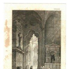 Arte: 1880 - BATHALHA - PORTUGAL - GRABADO SOBRE PLANCHA DE MADERA - PASSPARTOUT. Lote 218815902