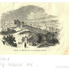 Arte: 1880 - PALACIO REAL DE MADRID - GRABADO SOBRE PLANCHA DE MADERA - PASSPARTOUT. Lote 218816065