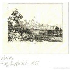 Arte: 1835 - LERIDA LLEIDA - FRANCE MILITAIRE - GRABADO SOBRE PLANCHA DE MADERA - PASSPARTOUT. Lote 218816607