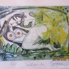 Arte: 14/50. S/T. EDUARDO GUERRA. 2005. MARCO DE DISEÑO DE 32,5 X 40 CMS. Y SIN 21 X 29 CMS.. Lote 218823997