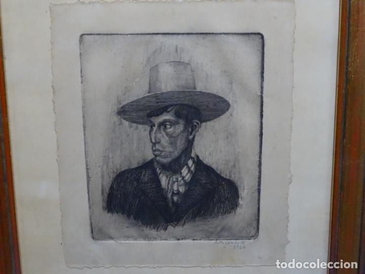 GRABADO DE JOSEP RIGOL FORNAGUERA.1927 (Arte - Grabados - Contemporáneos siglo XX)