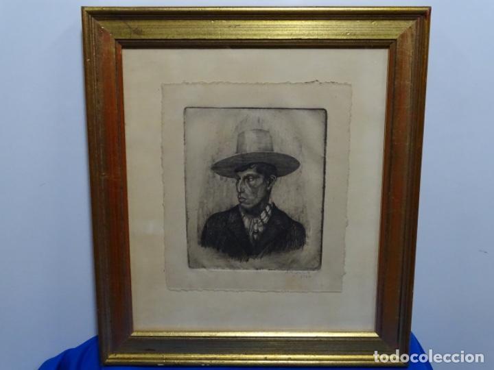 Arte: GRABADO DE JOSEP RIGOL FORNAGUERA.1927 - Foto 2 - 218848192