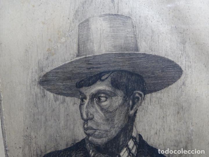 Arte: GRABADO DE JOSEP RIGOL FORNAGUERA.1927 - Foto 3 - 218848192