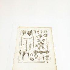 Arte: GRABADO 9 COSTUME DE ANCIENS PEUPLES,USAGES RELIGIEUX,CIVILS ET DOMESTIQUES DES GRECS ET DES ROMAINS. Lote 218942958