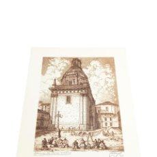Arte: GRABADO/AGUAFUERTE DE LA IGLESIA DE SAN ANDRÉS DE MADRID. CASTRO-GIL. 1891-1961. LUGO. GALLEGO.. Lote 219023281