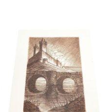 Arte: GRABADO/AGUAFUERTE DEL CASTILLO DE MEDINA DEL CAMPO. VALLADOLID. CASTRO-GIL.1891-1961. LUGO.GALLEGO.. Lote 219023555