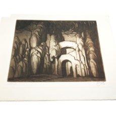 Arte: GRABADO/AGUAFUERTE TITULADO LABERINTO. CASTRO-GIL.1891-1961. LUGO.GALLEGO. 34X27 CM.. Lote 219023855