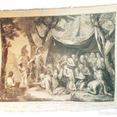 Arte: ENORME GRABADO DEL GRAN ALEJANDRO MAGNO. LA FAMILIA DE DARIO IMPLORANDO CLEMENCIA..SIGLO XVIII.. Lote 219052060