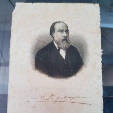 Arte: POLITICO S. XIX FRANCISCO PI Y MARGAL GRABADO TURMO BARCELONA. Lote 219073242