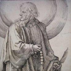 Arte: MARAVILLOSO Y RARÍSIMO GRABADO APÓSTOL BARTOLOMÉ, ORIGINAL 1610.JAN MULLER. SEGUIDOR VAN LEYDEN. Lote 219209706