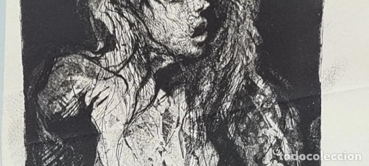 Arte: DESNUDO FEMENINO. GRABADO SOBRE PAPEL. ANONIMO. SIGLO XX. - Foto 4 - 219277317