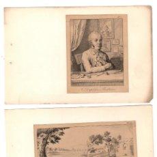 Arte: LOTE DE 9 GRABADOS DEL ARTISTA FRANCES JEAN DUPLESSIS-BERTAUX. 2ª ESTAMPACION. S. XIX. Lote 219396261