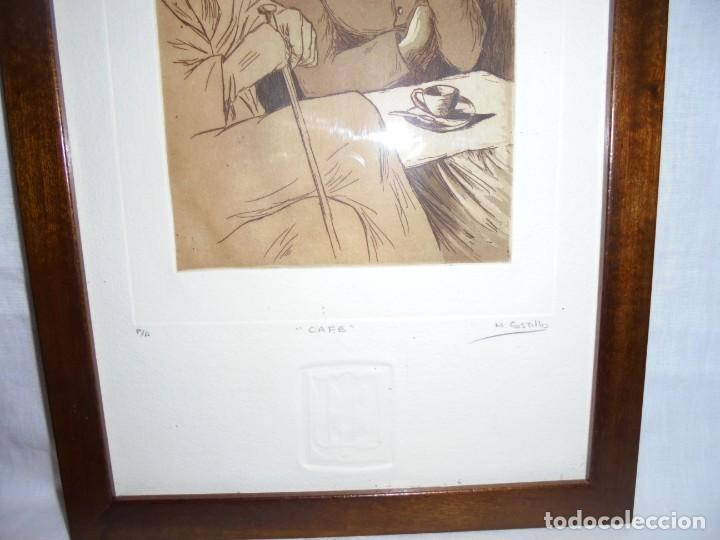 Arte: GRABADO M.CASTILLO TITULADO CAFE.PRUEBA DE ARTISTA - Foto 3 - 219444416