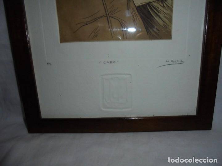 Arte: GRABADO M.CASTILLO TITULADO CAFE.PRUEBA DE ARTISTA - Foto 4 - 219444416