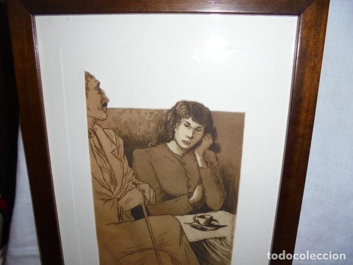 Arte: GRABADO M.CASTILLO TITULADO CAFE.PRUEBA DE ARTISTA - Foto 5 - 219444416