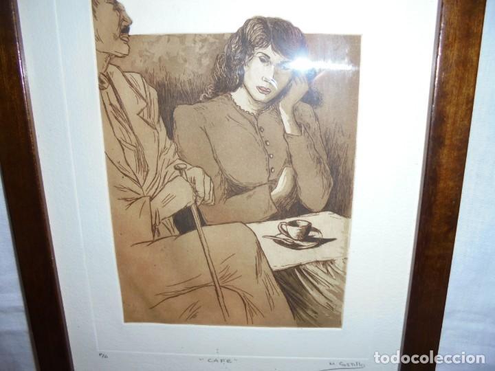 Arte: GRABADO M.CASTILLO TITULADO CAFE.PRUEBA DE ARTISTA - Foto 6 - 219444416