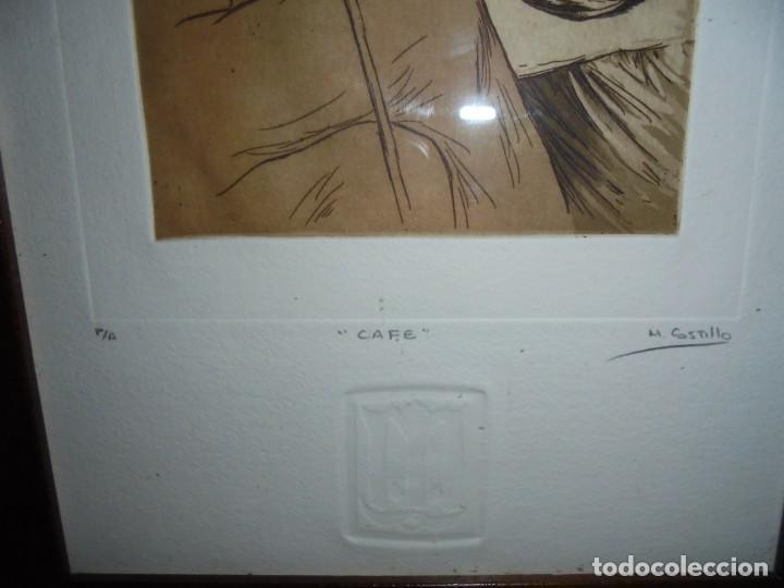 Arte: GRABADO M.CASTILLO TITULADO CAFE.PRUEBA DE ARTISTA - Foto 7 - 219444416