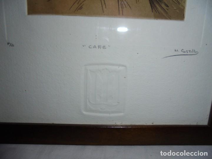 Arte: GRABADO M.CASTILLO TITULADO CAFE.PRUEBA DE ARTISTA - Foto 10 - 219444416
