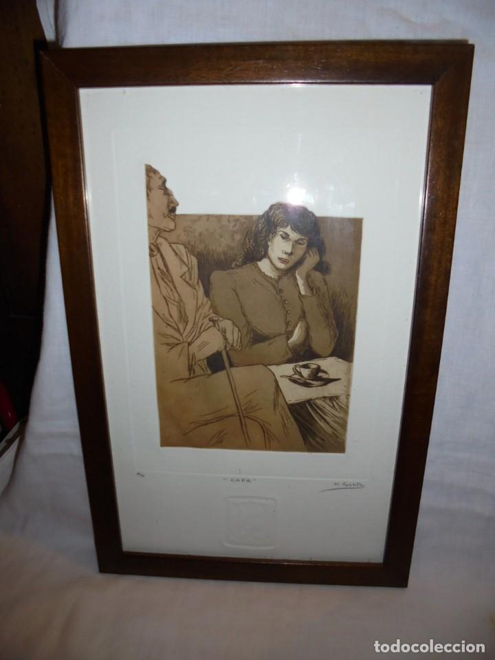 Arte: GRABADO M.CASTILLO TITULADO CAFE.PRUEBA DE ARTISTA - Foto 11 - 219444416