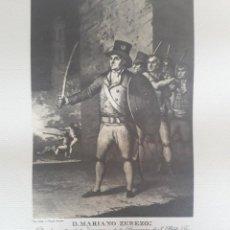Arte: GRABADO RUINAS DE ZARAGOZA. MARIANO ZEREZO. 57 CM POR 48 CM. AÑO 1975. Lote 219448007