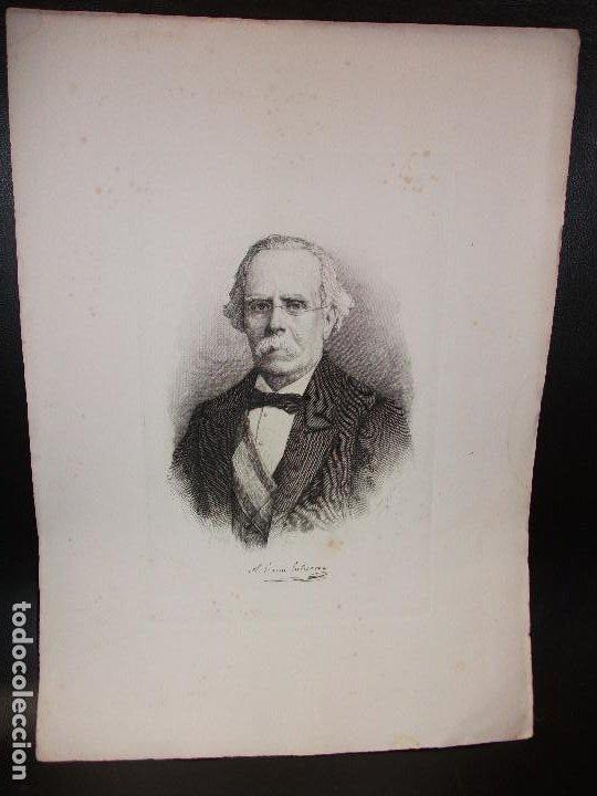 AÑO 1881 - GRABADO DE ANTONIO GARCIA GUTIERREZ DE CHICLANA DE LA FRONTERA CADIZ POR BARTOLOMÉ MAURA (Arte - Grabados - Modernos siglo XIX)