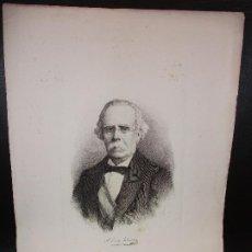 Arte: AÑO 1881 - GRABADO DE ANTONIO GARCIA GUTIERREZ DE CHICLANA DE LA FRONTERA CADIZ POR BARTOLOMÉ MAURA. Lote 219449066