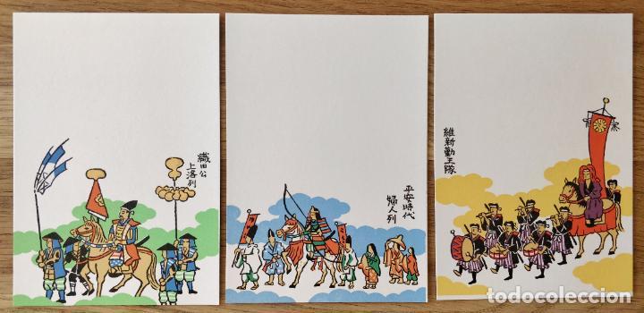 MAGISTRAL TRÍPTICO GRABADO JAPONÉS ORIGINAL, MUY BUEN ESTADO, TÍPICA CELEBRACIÓN JAPONESA (Arte - Grabados - Contemporáneos siglo XX)