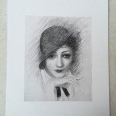 Arte: EMILI VILÀ GORGOLL. GRAVADO AL AGUAFUERTE DE DAMA FUMANDO. ART DECO.. Lote 219897120