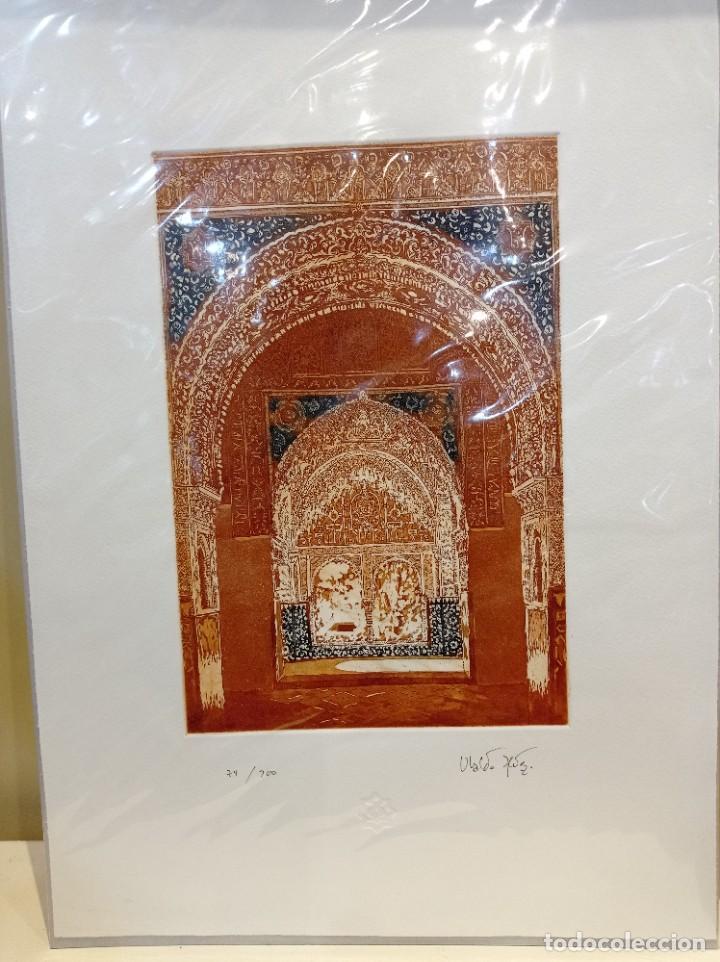 Arte: GRABADO INTERIOR ALHAMBRA. MIRADOR DE DARAIXA - Foto 2 - 220286163