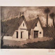 Arte: ANTONIO TOMÁS (VALENCIA 1939-) BARRAQUES , GRABADO FIRMADO Y FECHADO 1965 (26 X 35) 35 X 50. Lote 220501321