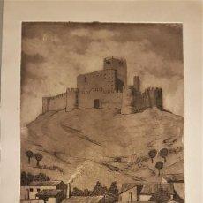 Arte: ANTONIO TOMÁS (VALENCIA 1939-) CASTILLO DE BIER , GRABADO FIRMADO,1965 (50 X 30) 70 X 33. Lote 220510080