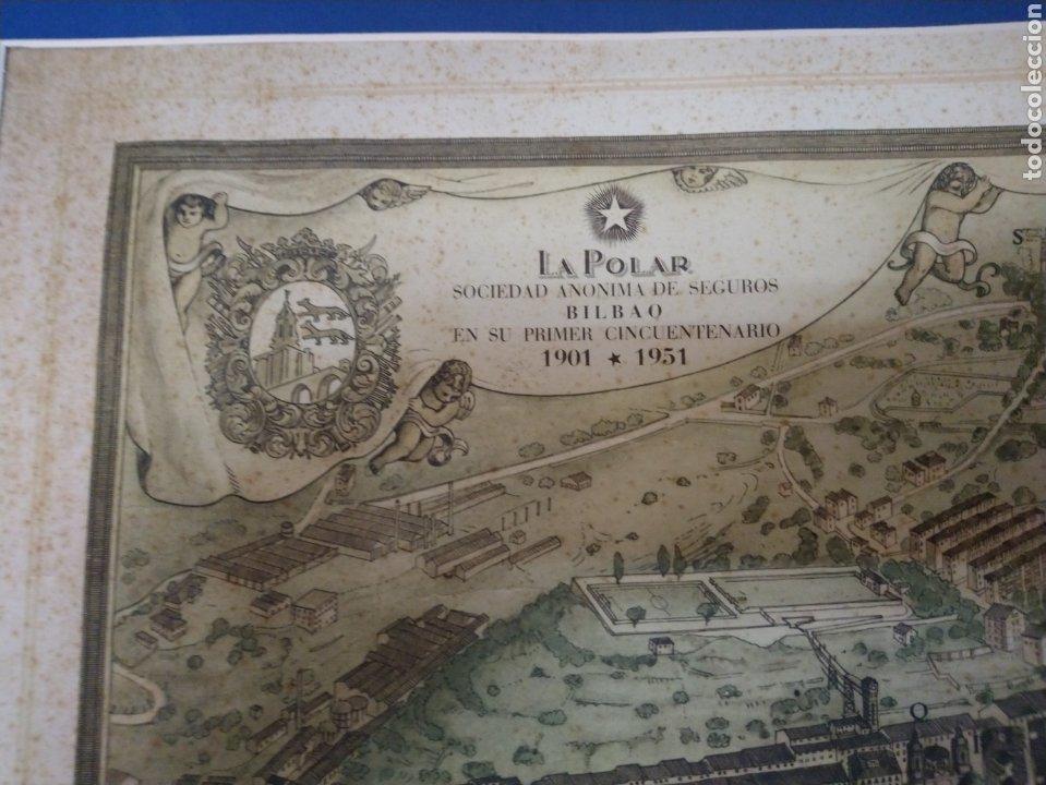 Arte: MAPA ANTIGUO DE LA RIA DE BILBAO-LA POLAR 1948-MEDIDAS 77X54CM - Foto 4 - 220569267