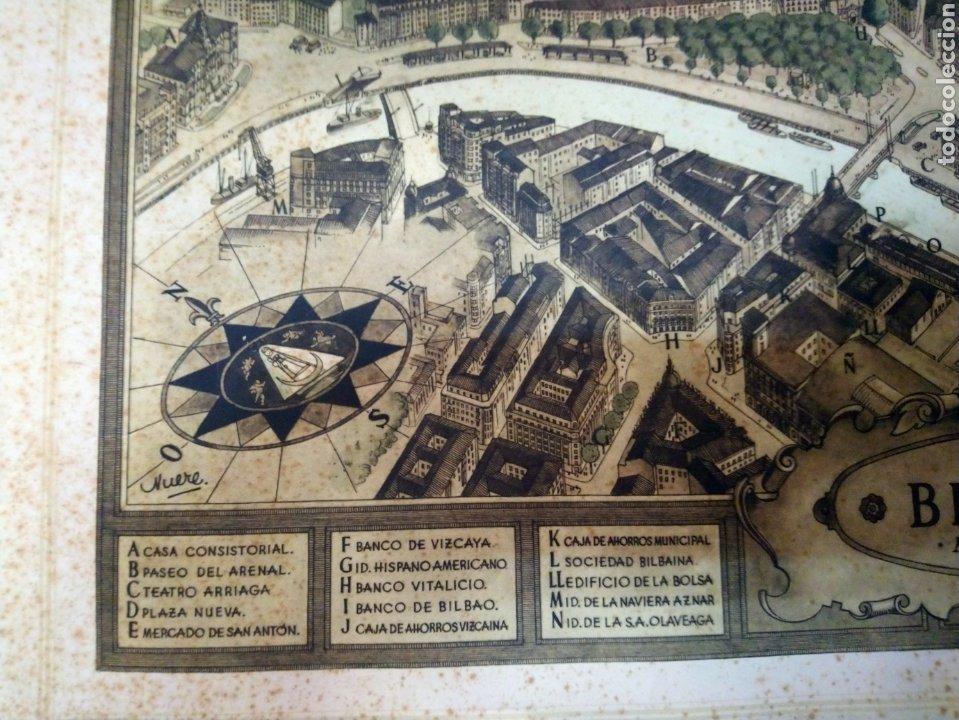 Arte: MAPA ANTIGUO DE LA RIA DE BILBAO-LA POLAR 1948-MEDIDAS 77X54CM - Foto 5 - 220569267