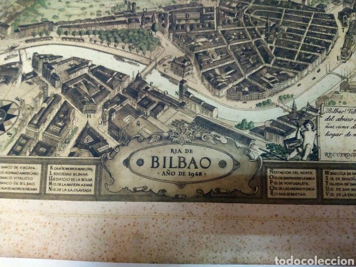 Arte: MAPA ANTIGUO DE LA RIA DE BILBAO-LA POLAR 1948-MEDIDAS 77X54CM - Foto 8 - 220569267