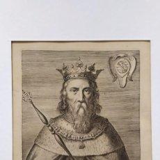 Arte: GRABADO ÚNICO Y RARO RETRATO DE MANUEL I, REY DE PORTUGAL AMBERES 1636 SIGLO XVII FLANDES FELIPE II. Lote 220599816