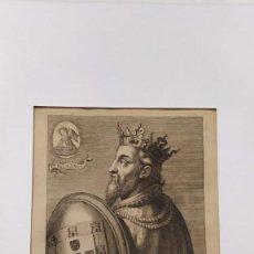 Arte: GRABADO ÚNICO Y RARO RETRATO DE JUAN II REY DE PORTUGAL AMBERES 1636 SIGLO XVII FLANDES FELIPE II. Lote 220600840