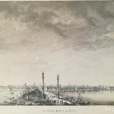 Arte: GRABADO VISTA DE CADIZ - TOMAS LOPEZ - AÑO 1795. Lote 220739977