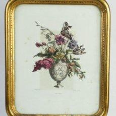 Arte: GRABADO COLOREADO A MANODE LOUIS TESSIER (GRABADOR, C.1719-1781) VASE OPAQUE. Lote 221157201
