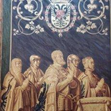 Arte: GRABADO ESTATUAS CARLOS V Y FAMILIA, EL ESCORIAL. ORIGINAL, 1879, BARCELONA,PUJADAS.. Lote 221398088
