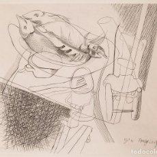 Arte: GÉA AUGSBOURG - 1951 - NATURALEZA MUERTA - PUNTA SECA. Lote 221435692