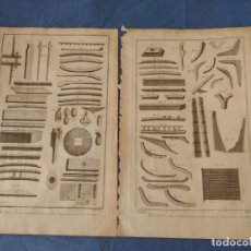 Arte: DOS GRABADOS DE MARINA ENCICLOPEDIA SIGLO XVIII. PIEZAS DE ARMAR. 26X38,9 CM. PLANCHE VI ET SUITE. Lote 221443536