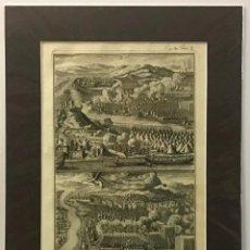 Arte: GRABADO MILITAR ORIGINAL. PERTENECIENTE AL LIBRO DE LA HISTORIA DE LEOPOLDO I, DEL AÑO 1696. Lote 221541488
