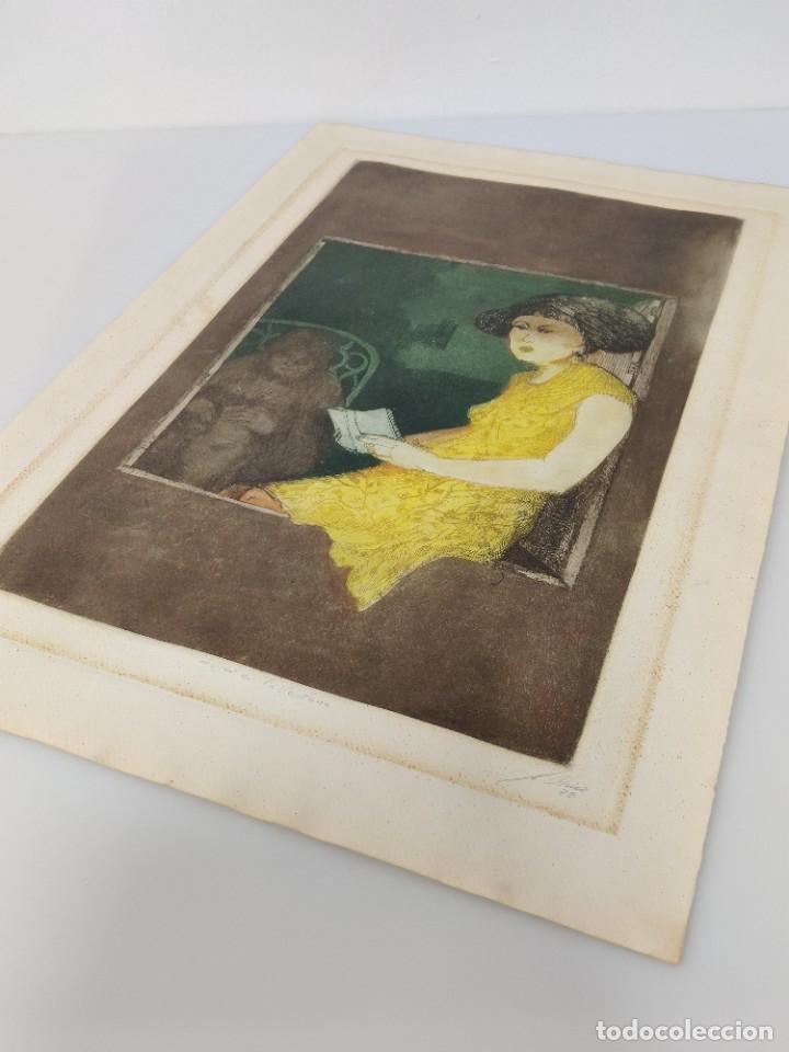 Arte: Mujer en la ventana por Julio Chico, 1978, 12/40 - Foto 2 - 221709116
