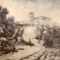 Arte: VICTOR MORELLI - DEFENSA DE UN CONVOY - 1901 - DEDICADO.. Lote 221761276