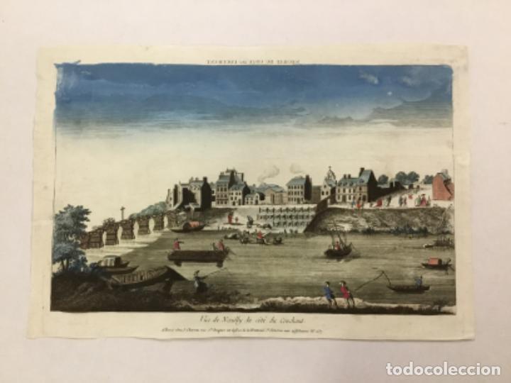 VUE DE NEUILLY DU COTÉ DU COUCHANT. GRABADO ORIGINAL. CHEZ JACQUES CHEREAU. (Arte - Grabados - Antiguos hasta el siglo XVIII)