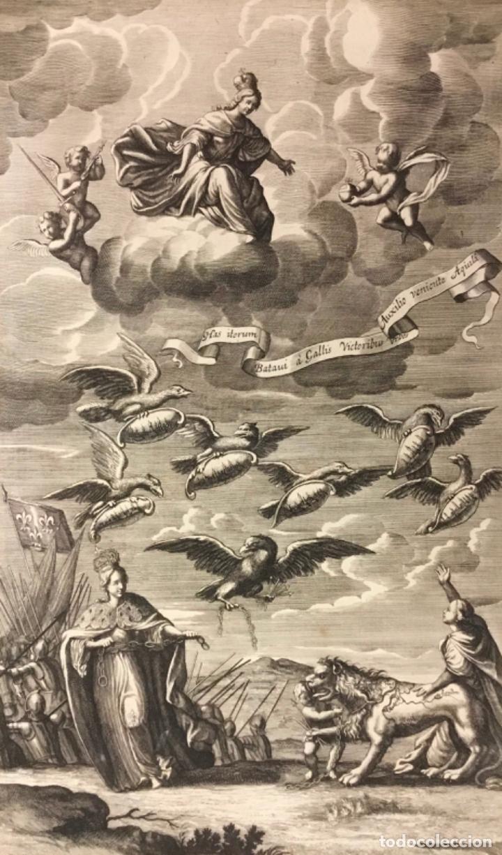 GRABADO ORIGINAL. REPRESENTA LA GUERRA DE FRANCESES EN HOLANDA A LA CUAL SE OPUSIERON LAS ARMAS CESA (Arte - Grabados - Antiguos hasta el siglo XVIII)