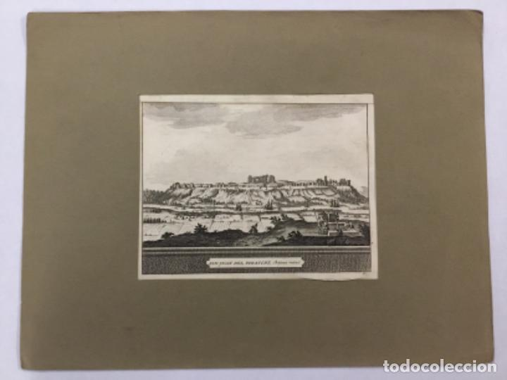 Arte: SAN JUAN DEL FORATCHE. CHATEAU RUINE. SEVILLA. VISTA. GRABADO ORIGINAL. 13 X 18 CM. - Foto 2 - 221812141